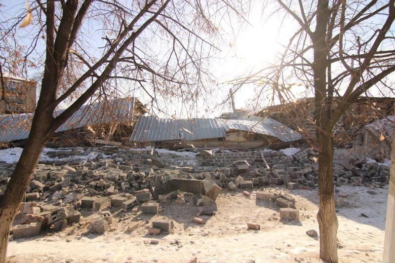 Взрыв газа в артемовском АТП повредил 20 автомобилей